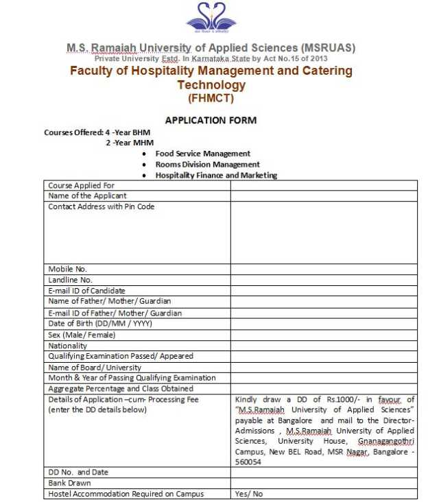 MSRCHM-M-S-Ramaiah-College-of-Hotel-Management-Bangalore Jet S Pizza Application Form on full printable job application, chili's application, taco john's application, logan's roadhouse application, johnny rockets application, larry's giant subs application, wetzel's pretzels application, hungry howies application, little ceasers application, church's chicken application, papa murphy's application, hardee's application, zaxby's application, outback steakhouse application, chicken express application, chipotle mexican grill application, starbucks pdf application, jersey mikes application, domino's application, famous dave's application,