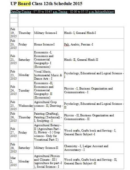 how to make time table for board exams