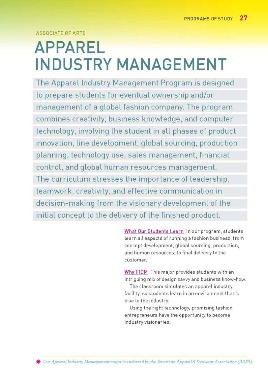 Fashion merchandising and management degree college Associates degree in fashion design online