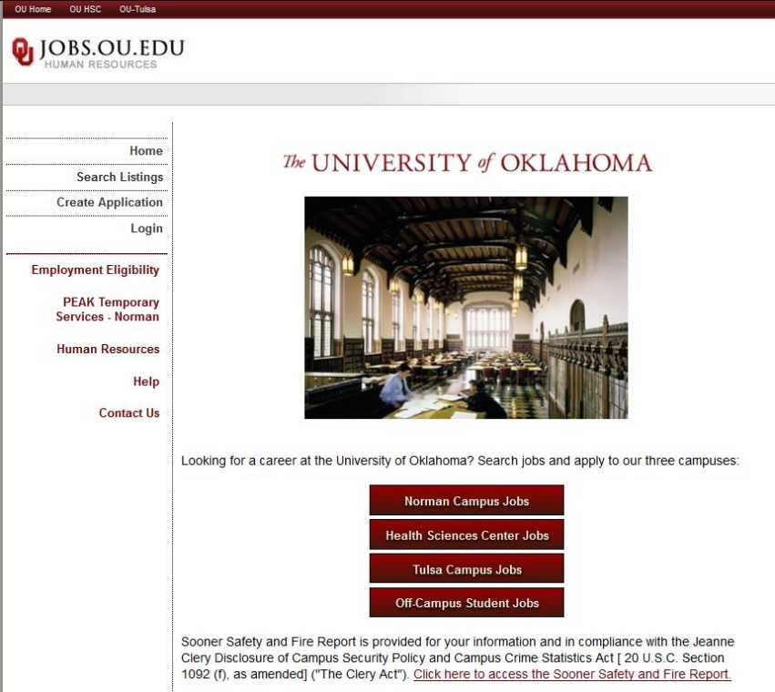 Ou medical center jobs