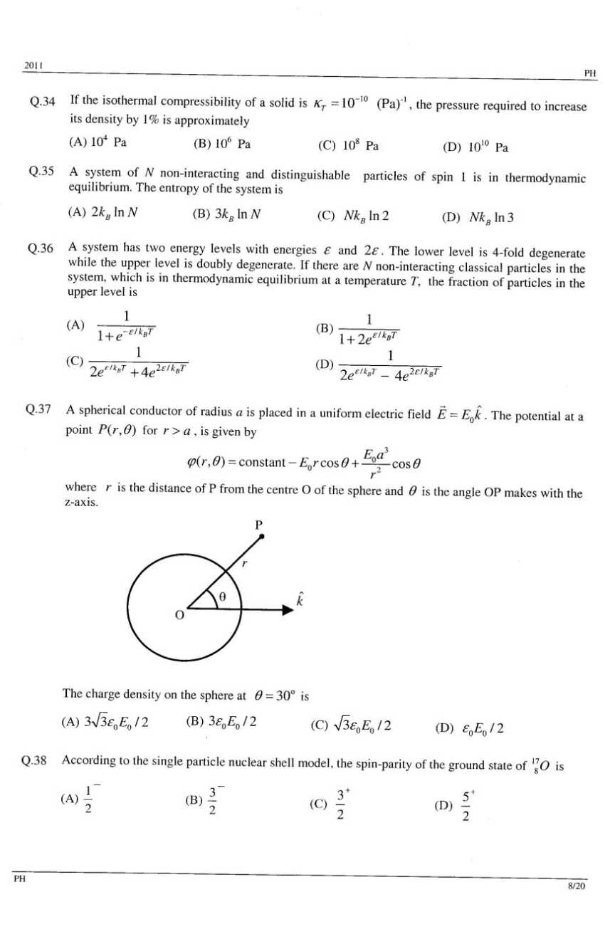 Previous years GATE Physics Solved Question Papers - 2018 ...