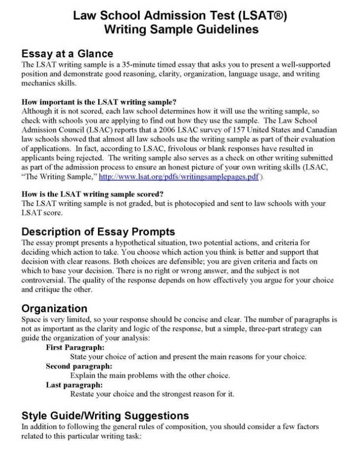 lsat essay