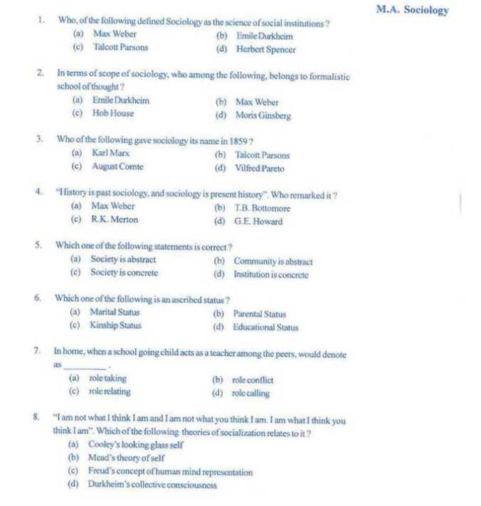 sociology essay and answer Sociology author: ets praxis subject: sociology keywords: sociology, 5952, study companion, sociological perspectives, methods of inquiry, culture, socialization, social organization, social stratification, deviance, conformity, social institutions, demography, social change.