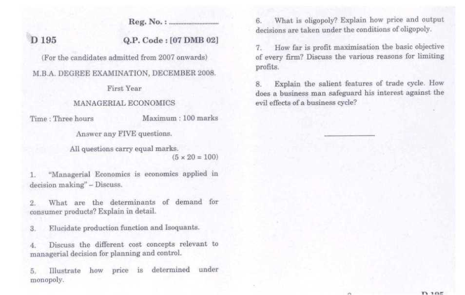 managerial economics question paper Multiple choice single answer question the concept of perfect competition includes all the features of :-correct answer pure competition your answer.