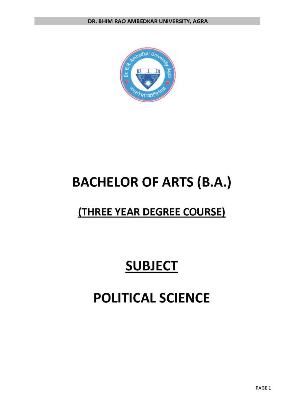 Political Science college algebra subjects