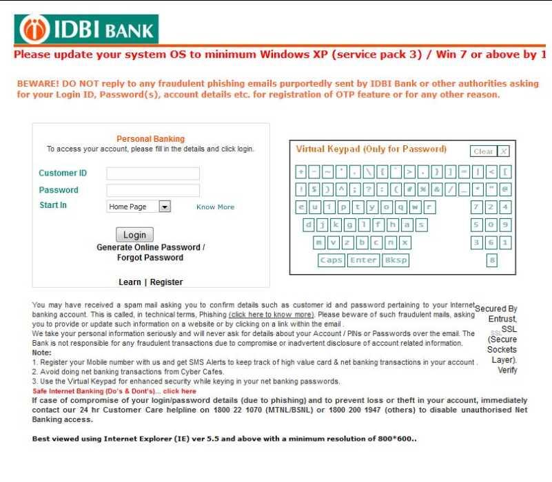 idbi bank statement sample
