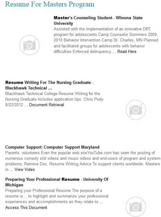 sample resume for master degree application - resume examples masters program