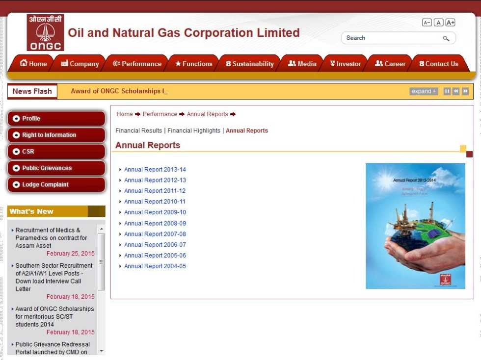 analysis of annual report of ongc Ongc: get latest oil and natural gas corporation share price, live nse, bse stock and share price get all details on ongc technical chart, quarterly results, future & options price, stock performance & more on the economic times.