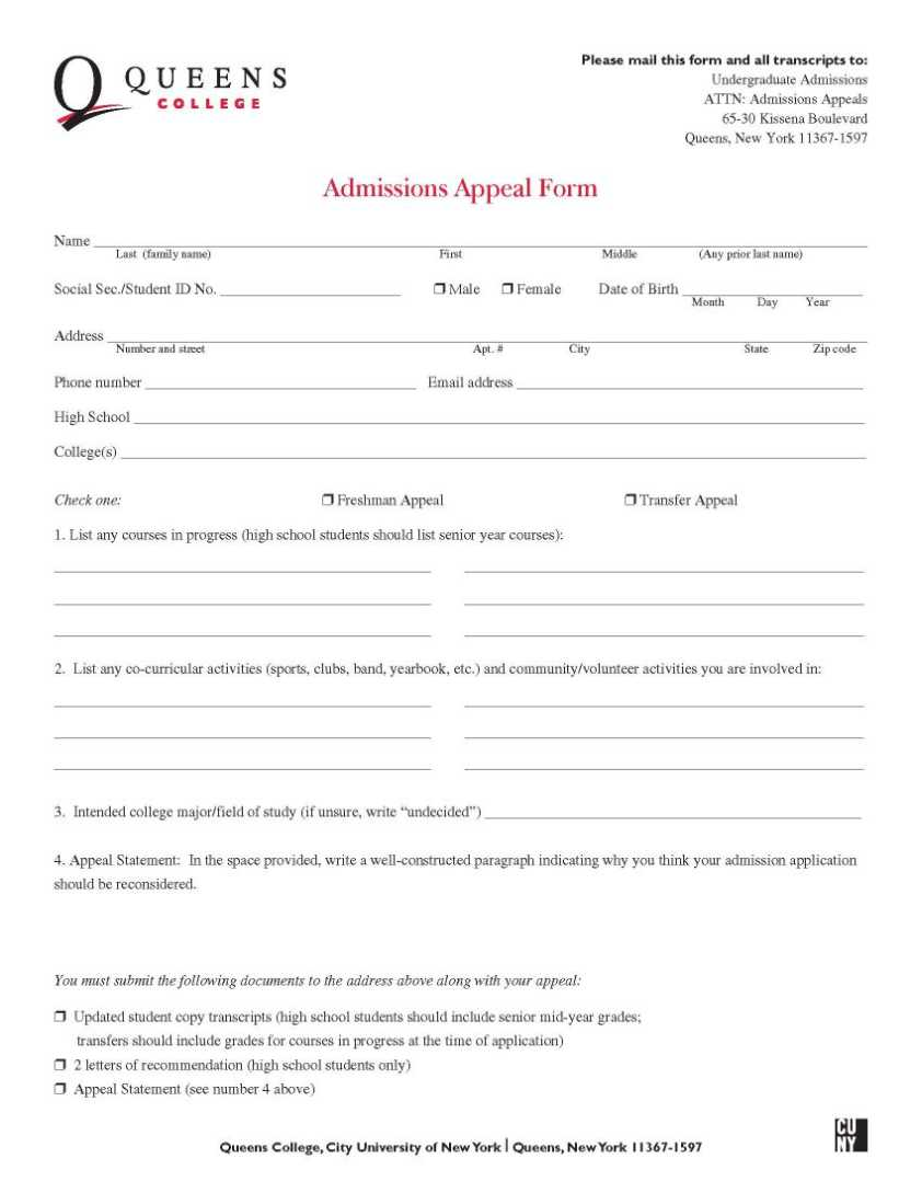 queens college application