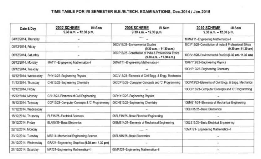 Vtu exam time table dec 12 2018 2019 studychacha for Bu time table 5th sem
