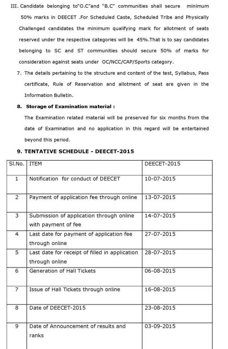 TS DEECET Notification 2018 – Telangana DIETCET (TTC) Online Application Form, Exam Dates @