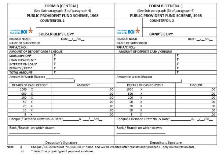 Cheque bank pdf deposit india of slip