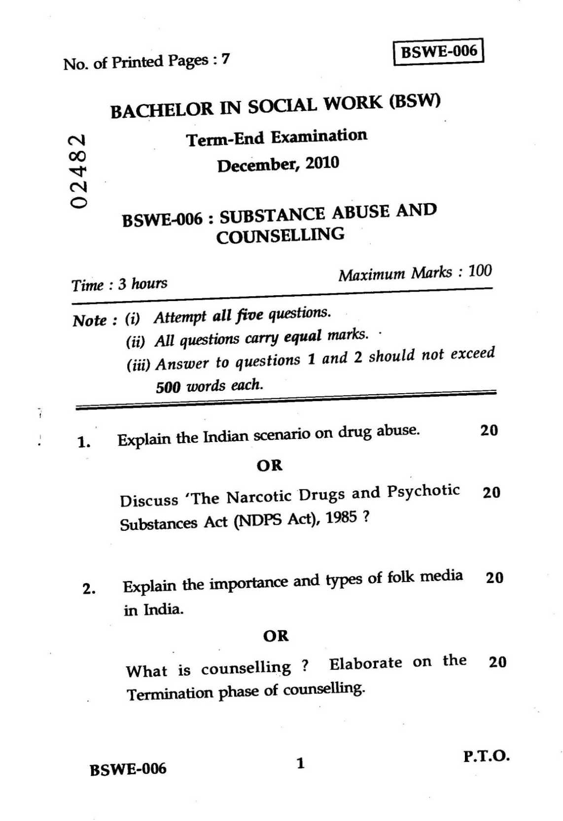 Substance Abuse and Addiction Counseling term papaers