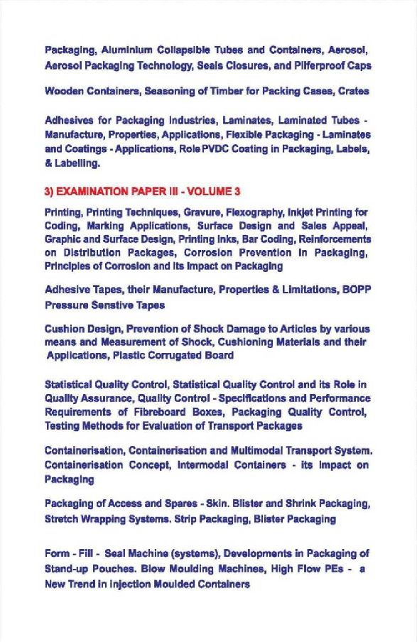 Indian Institute of Packaging Entrance Exam Syllabus - 2018-2019 StudyChaCha
