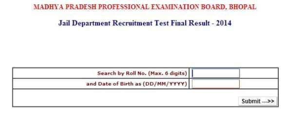 professional examination result