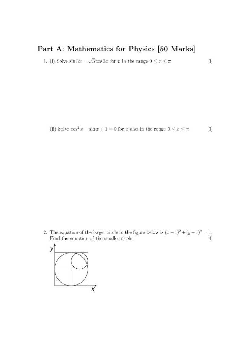 physics exam papers The exams section contains 12 practice exams, solutions, and formula sheets for the course.