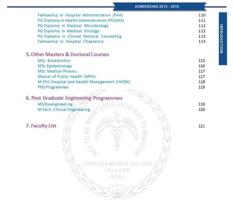 Christian Medical College and Hospital - 2018-2019 StudyChaCha