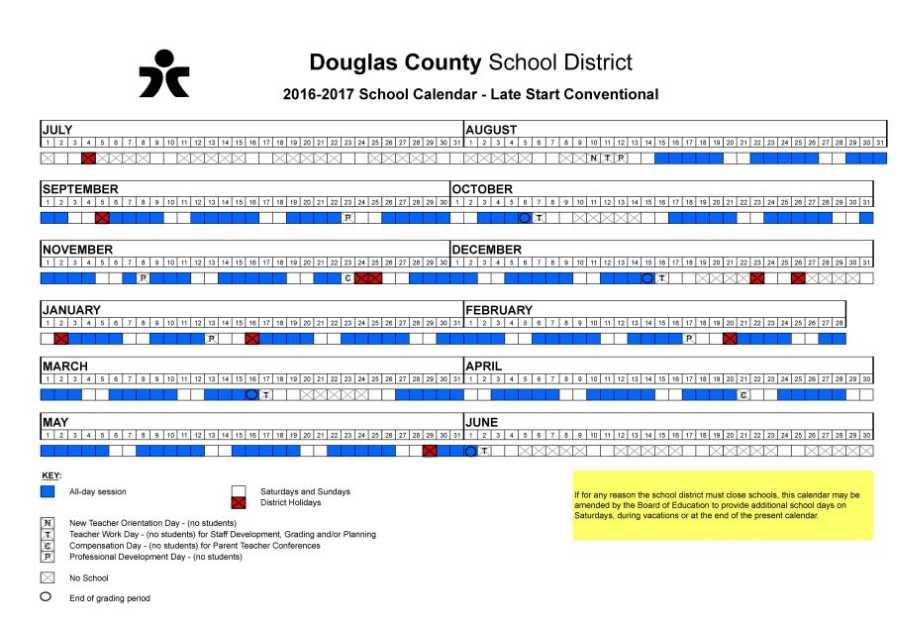 Douglas County Schools Vacation 2017 2018 Studychacha