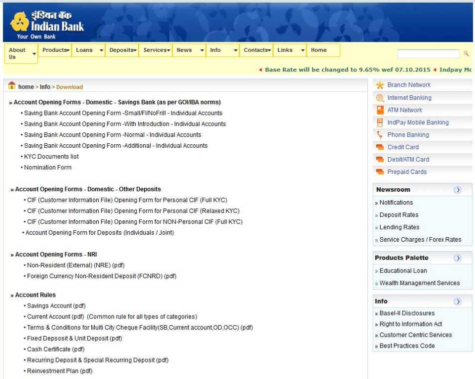 Indian Bank Net Banking Application Form Pdf