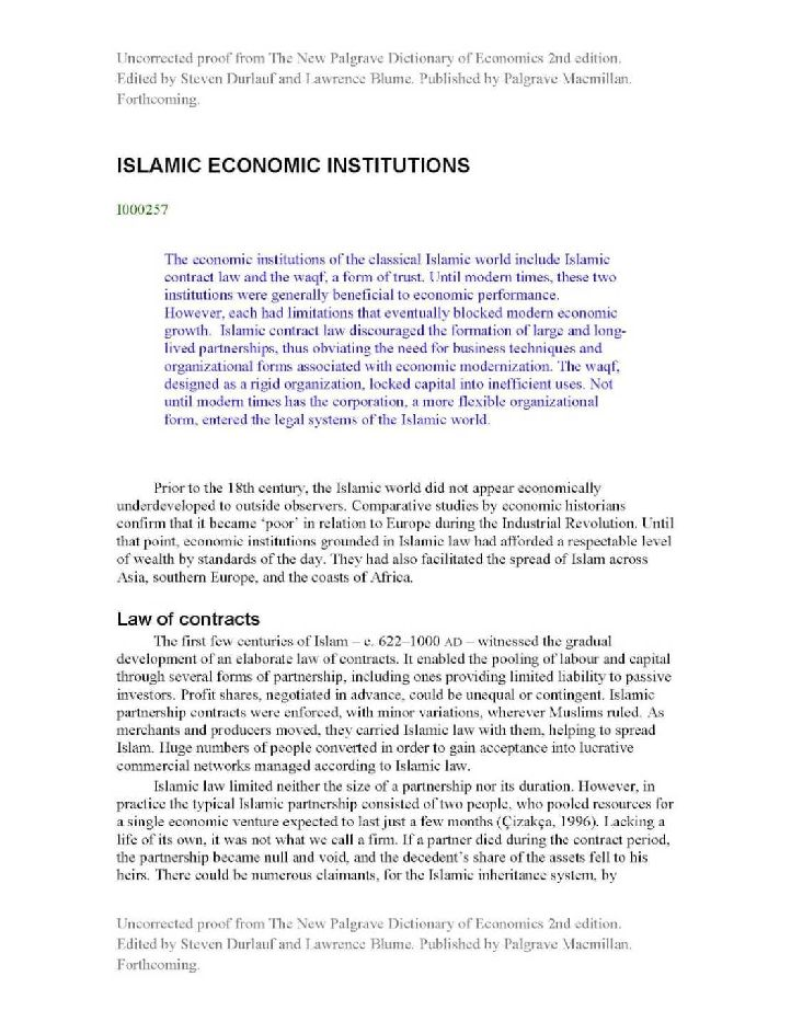 islamic economic The development and progress of islamic financial practices are fantastic, has changed the map of thought and the world's financial practices significantly.