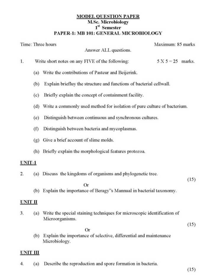Microbiology paper topics