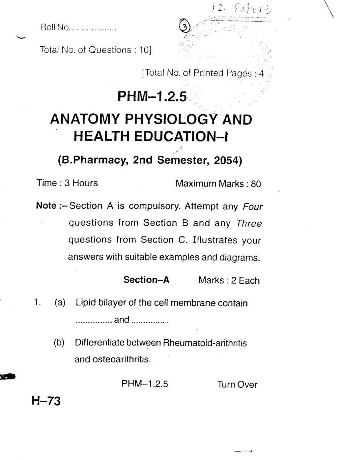 Niedlich Anatomy And Physiology Exam 1 With Answers Zeitgenössisch ...