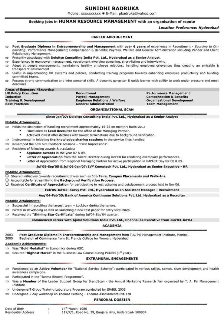 Fmcg Resumes - Twenty.Hueandi.Co