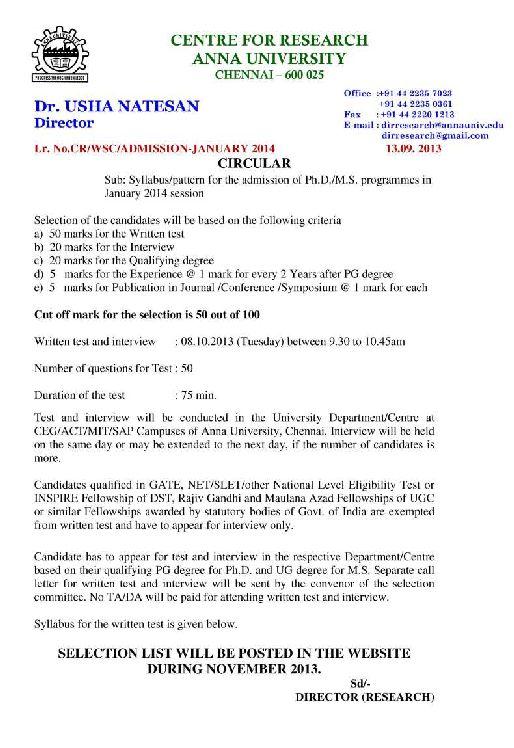Doctoral dissertation syllabus