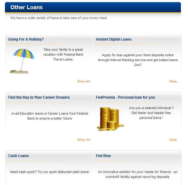 fed bank net banking login