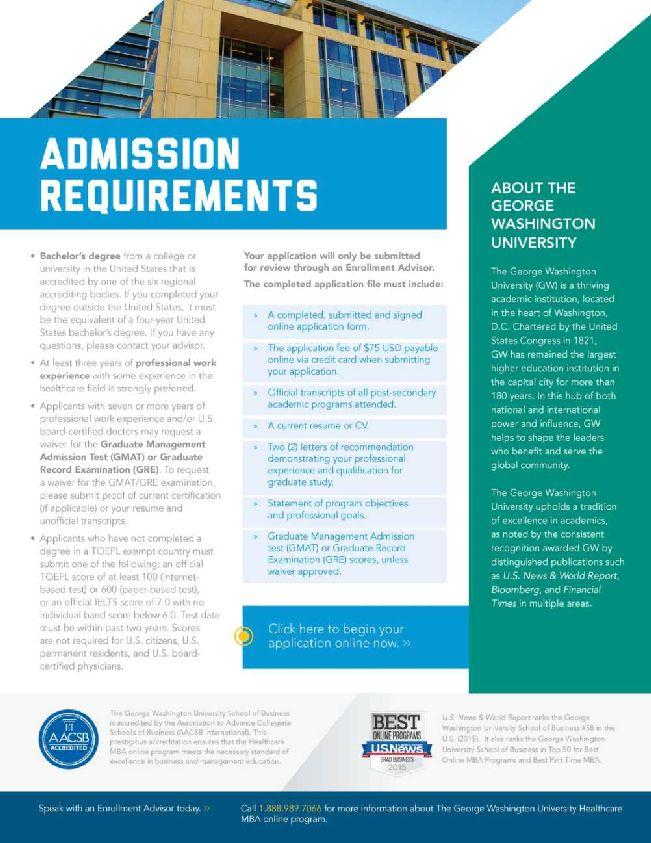 gwu admission essay