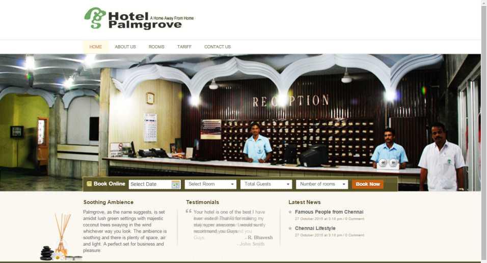 Palmgrove Hotel Chennai Booking