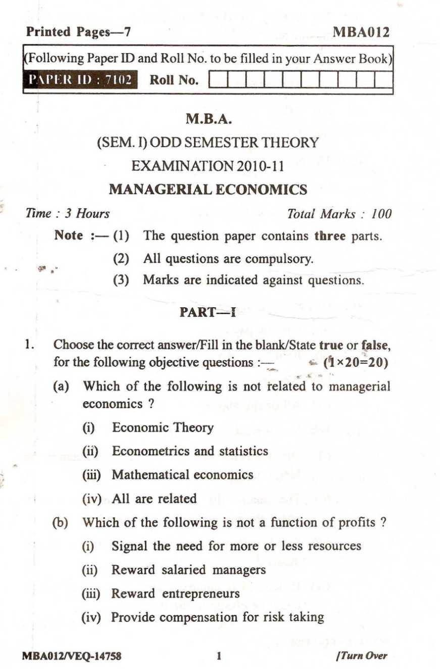 economics for managers questions and an 'interviewed about management practices for a research project' to run this blind  scoring, we use open questions for example, the first monitoring question is.