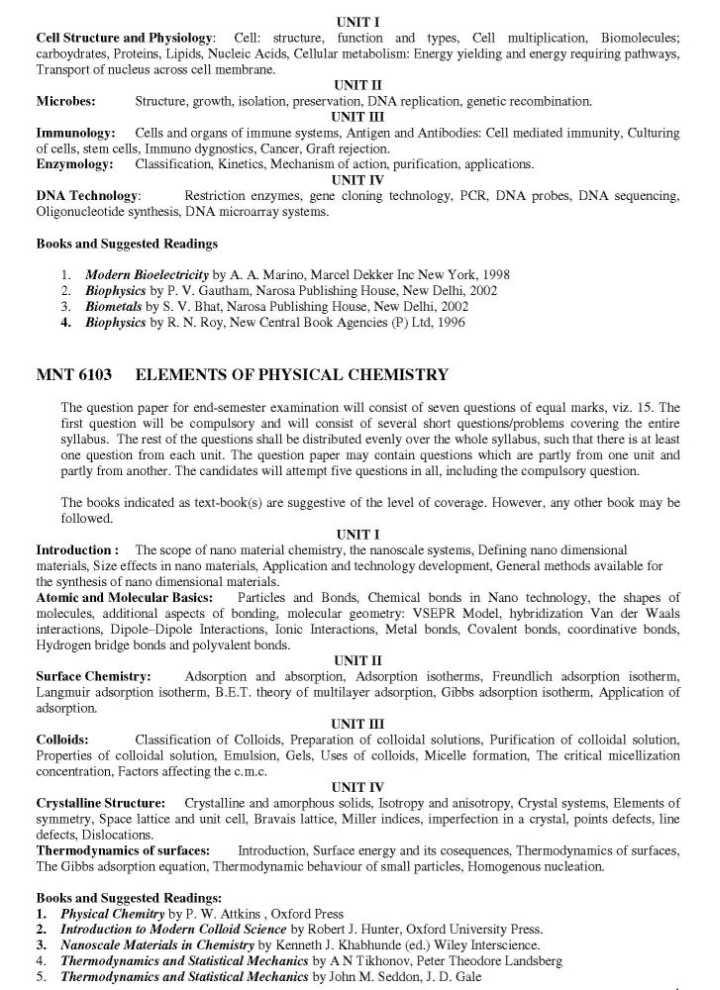msc biotechnology syllabus pdf bharathiar university