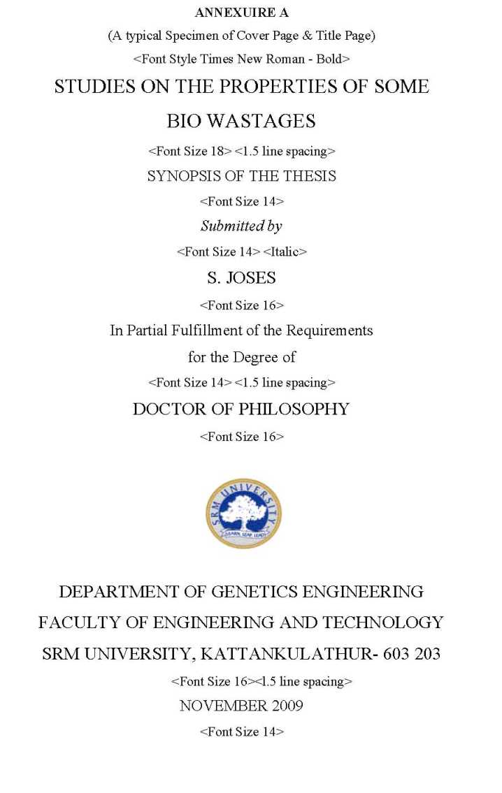 Thesis table of contents literature review