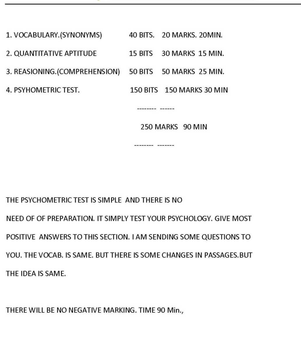 written paper of tcs