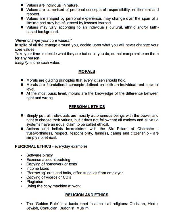 Anna University Professional Ethics Notes - 2018-2019