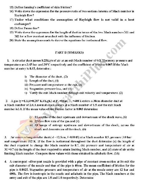 Gas Dynamics And Jet Propulsion Question Bank Pdf
