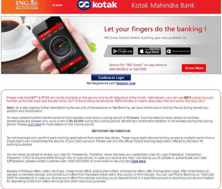Ing vysya forex card netbanking