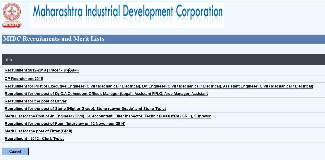 Maharashtra Industrial Development Corporation Mumbai