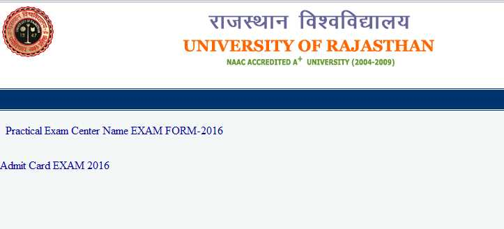 Permission Letter Of University Of Rajasthan