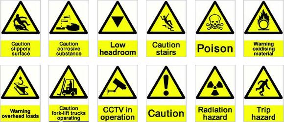 Safety Sign Symbols - 2018-2019 StudyChaCha