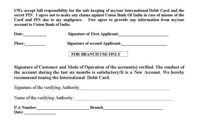 Union bank of india application form for international debit card union bank of india application form for international debit card thecheapjerseys Images