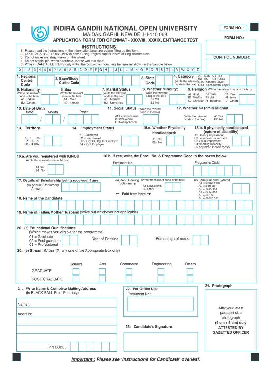Air hostess job application form choice image standard form examples application form for openmat entrance test form 1 2018 2019 application form for ignou openmat entrance falaconquin