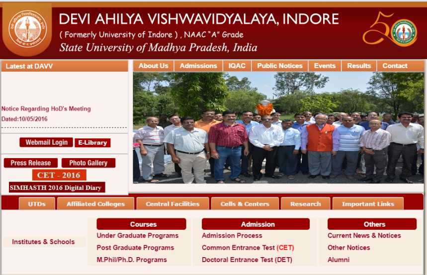 B ed time table of devi ahilya university 2018 2019 for Davv 4th sem time table