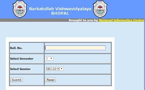 phd coursework result bu bhopal 2014