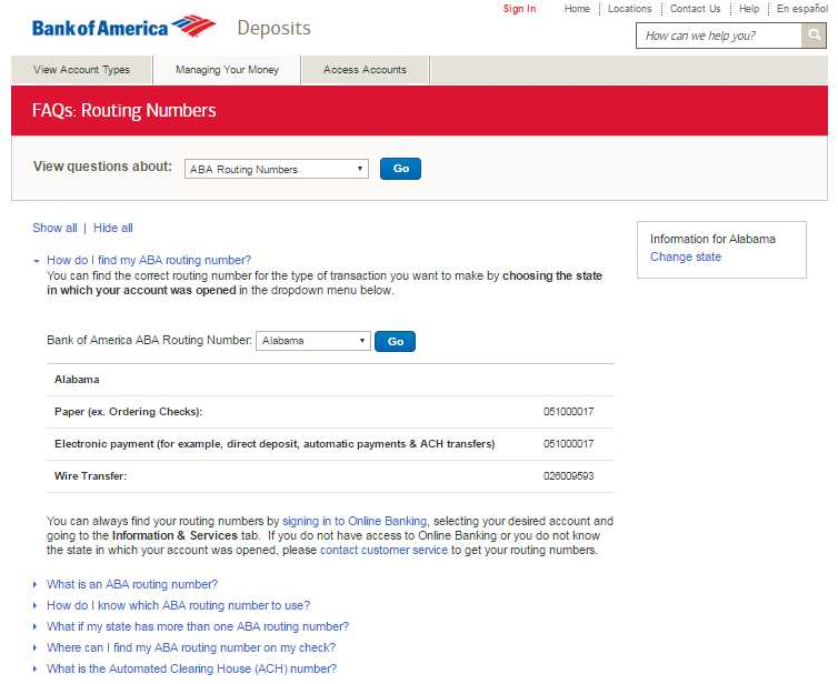 Wiring Routing Number Bank Of America : Bank of america routing number studychacha