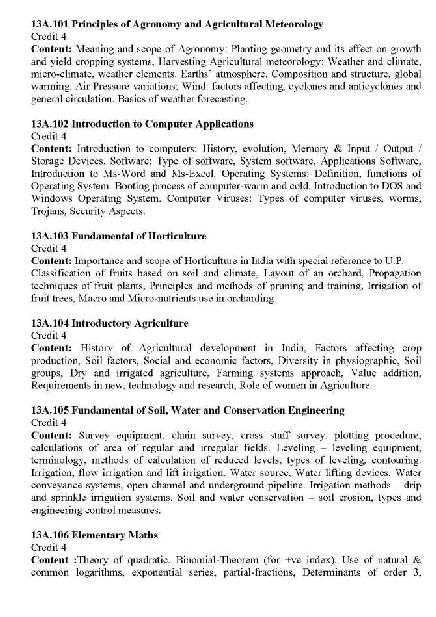 Horticulture school subjects list