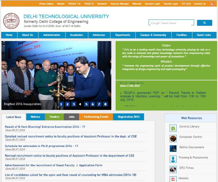 how to get admission in dtu