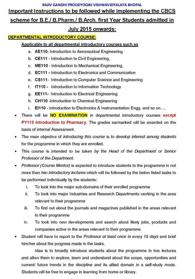 New Syllabus Of Rgpv 2018 2019 Studychacha