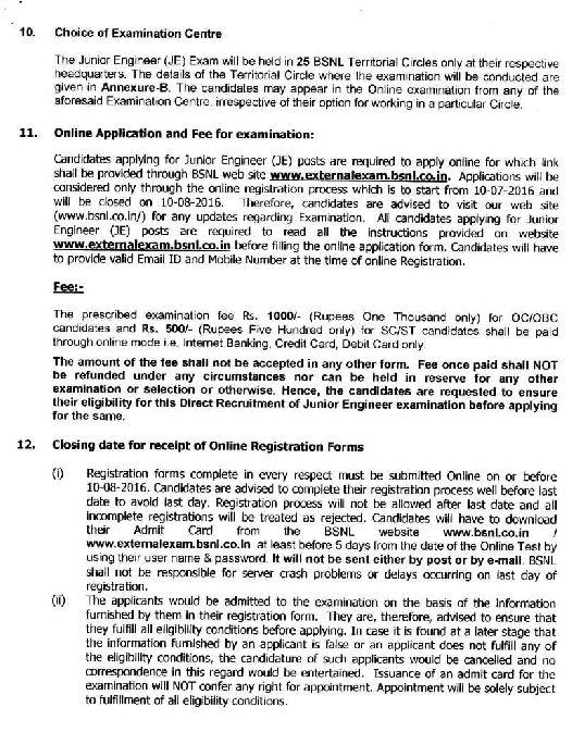 recruitment process of bsnl Bharat sanchar nigam limited (bsnl) recruitment 2017, the application start from 15122017 to 15012018 selection process bharat sanchar nigam limited (bsnl) may follow the following process to select the candidates written exam.